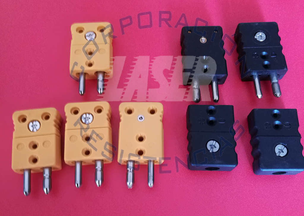 Conectores para Termocuplas Tipo J, K, y PT100